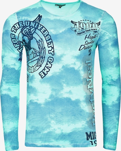 Rusty Neal Cooles Longsleeve mit angesagtem Allover-Print in mint: Frontalansicht