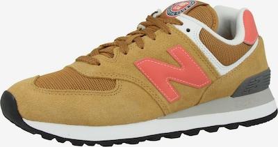 new balance Sneaker '574' in dunkelgelb / dunkelgrau / koralle / weiß, Produktansicht