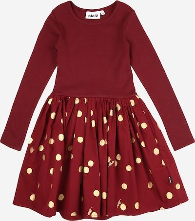Molo Kleid 'Casie' in gold / weinrot, Produktansicht