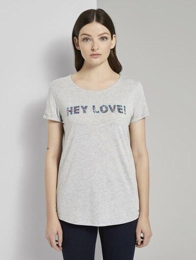 TOM TAILOR DENIM T-Shirt in grau: Frontalansicht
