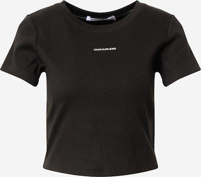 Calvin Klein Jeans T-shirt en noir, Vue avec produit