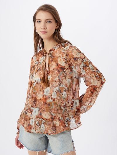 Cream Bluse 'Babette' in opal / braun / rosé / weiß, Modelansicht