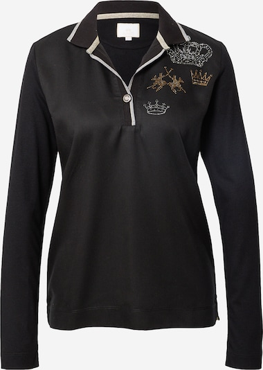 Tricou La Martina pe auriu / gri / negru / argintiu, Vizualizare produs