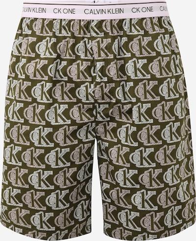 Calvin Klein Underwear Pantalon de pyjama en vert / blanc, Vue avec produit