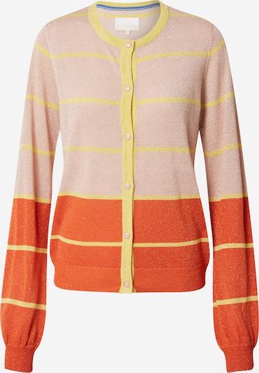NÜMPH Strickjacke 'CHARISMA' in hellgelb / orange / pastellorange, Produktansicht
