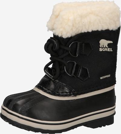 SOREL Snowboots 'Yoot PAC' in schwarz / wollweiß, Produktansicht