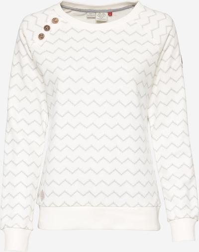 Ragwear Sweatshirt 'DARIA' in taupe / weiß, Produktansicht
