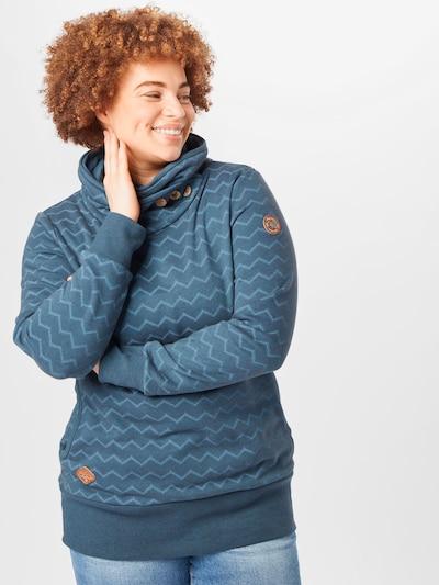 Ragwear Plus Блузон с качулка в нейви синьо / опушено синьо: Изглед отпред
