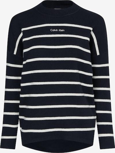 Calvin Klein Pullover in ecru / schwarz, Produktansicht