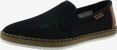 RIEKER Slipper 'Loafer' in braun / schwarz, Produktansicht