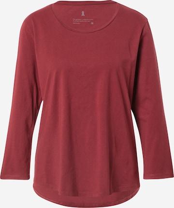 raudona ARMEDANGELS Marškinėliai 'NEAA'