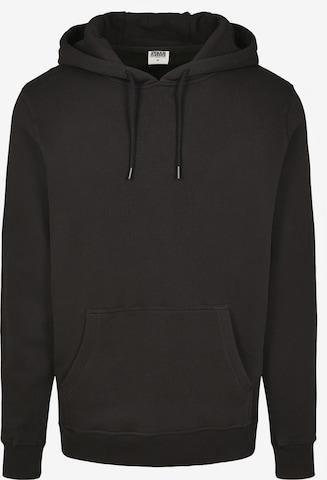 Urban Classics Big & Tall Sweatshirt i svart