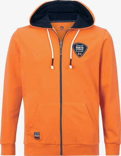 Jan Vanderstorm Veste de survêtement en orange / noir, Vue avec produit