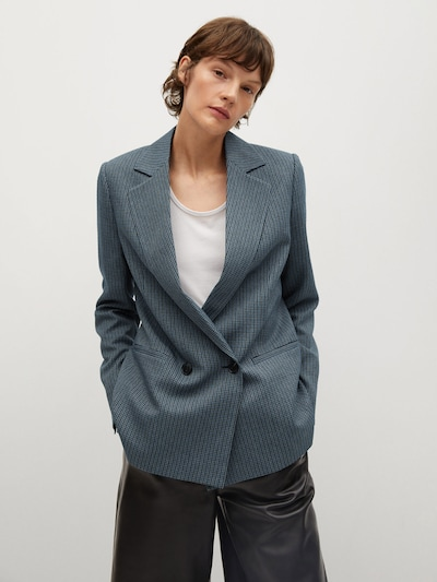MANGO Blazer 'Charlott' in blau / graphit, Modelansicht