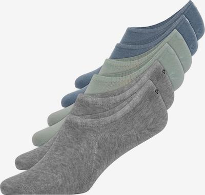 SNOCKS Füßlinge in blau / grau / grün, Produktansicht