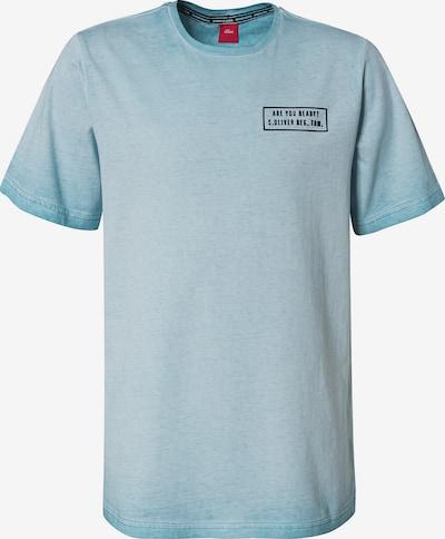 s.Oliver T-Shirt in hellblau / schwarz, Produktansicht