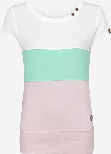Alife and Kickin T-shirt en jade / rose pastel / blanc, Vue avec produit