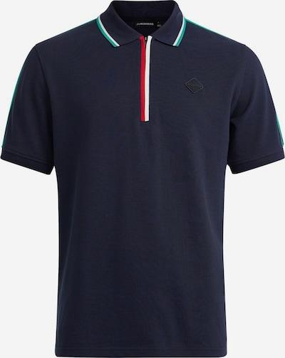 J.Lindeberg Shirt 'Lev' in de kleur Navy / Jade groen / Rood / Wit, Productweergave