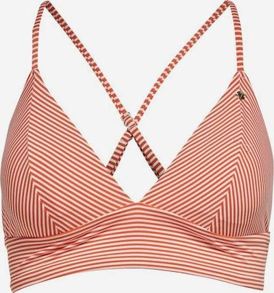 ONLY Hauts de bikini en rouge rouille / blanc: Vue de face