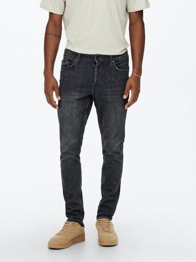 Only & Sons Jeans 'Draper' in black denim, Modelansicht