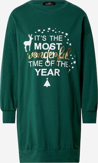 Zwillingsherz Sweatshirt 'Christmas' in Gold / Fir / White, Item view