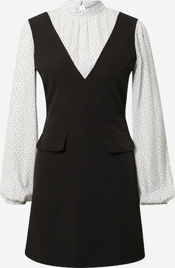 Miss Selfridge Haljina '2 IN 1' u crna / bijela, Pregled proizvoda