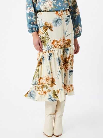 Dorothy Perkins Nederdel i creme / blandingsfarvet: Frontvisning