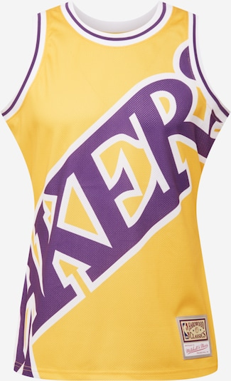 Mitchell & Ness Shirt 'BLOWN OUT FASHION' in yellow gold / Dark purple / White, Item view