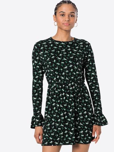 Missguided Kleid in grün / schwarz / weiß, Modelansicht