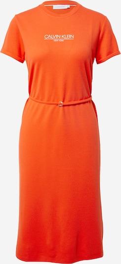 Calvin Klein Poletna obleka | oranžno rdeča / bela barva, Prikaz izdelka
