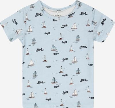 NAME IT Camiseta en azul / azul noche / blanco, Vista del producto
