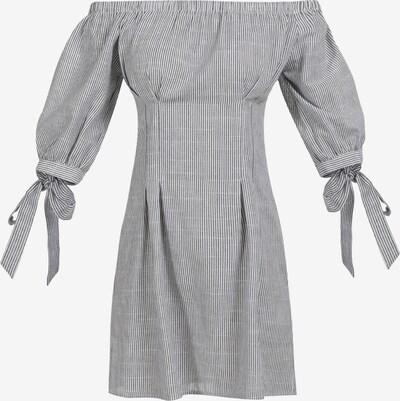 Usha Vestido de verano en azul oscuro / blanco, Vista del producto