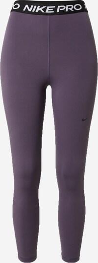 Pantaloni sport NIKE pe fruct de pădure / negru / alb, Vizualizare produs