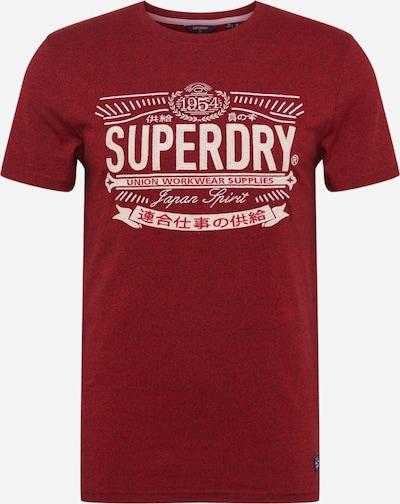 Superdry Shirt in de kleur Bloedrood / Wit, Productweergave