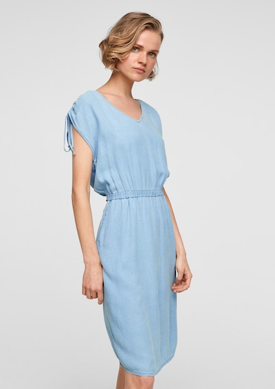 s.Oliver Kleid in hellblau / weiß, Modelansicht