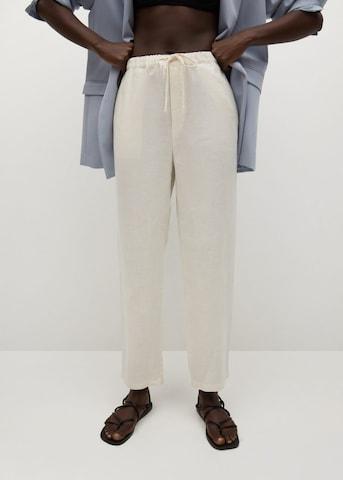 MANGO Broek 'Linen' in Wit