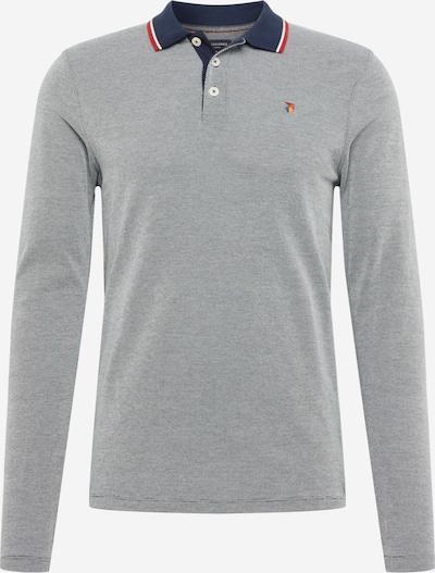 JACK & JONES Shirt 'Bluwin' in dunkelblau / grau / graumeliert, Produktansicht