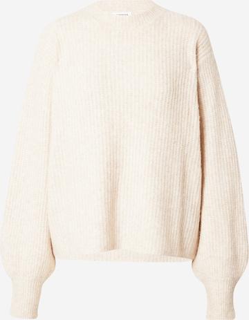 Hoermanseder x About You Sweater 'Grace' in Beige