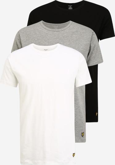 Lyle & Scott Podkoszulka 'MAXWELL' w kolorze nakrapiany szary / czarny / białym, Podgląd produktu