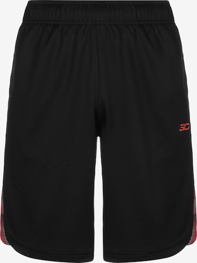 UNDER ARMOUR Basketballshort in rot / schwarz, Produktansicht