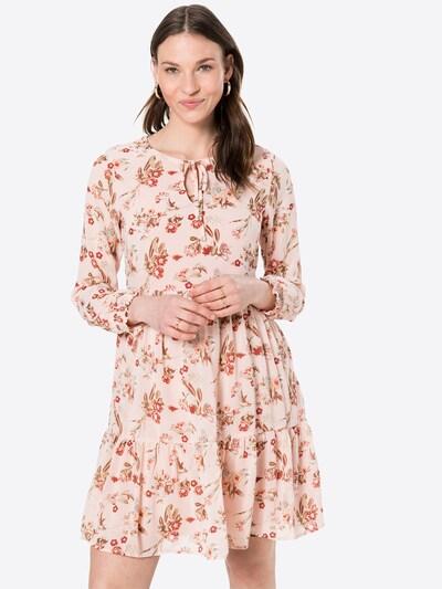 VILA Kleid 'Ura' in opal / oliv / rosa / rot, Modelansicht