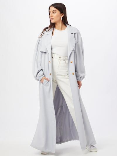 Missguided Manteau mi-saison en bleu clair, Vue avec modèle