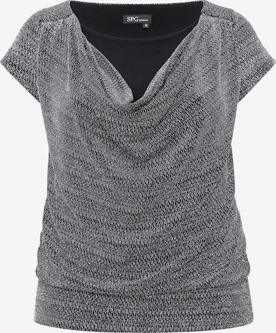 SPGWOMAN Silber-Glanz-Top in silber, Produktansicht
