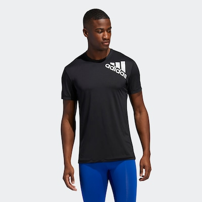 ADIDAS PERFORMANCE Functioneel shirt ' Alphaskin Sport Fitted T-Shirt 2.0 ' in de kleur Zwart: Vooraanzicht