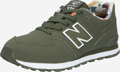 new balance Sneaker in oliv / weiß, Produktansicht