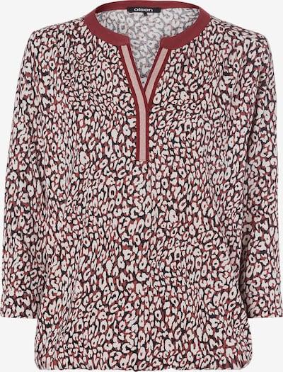 Olsen Shirt in kastanienbraun / weiß, Produktansicht