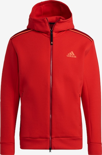 ADIDAS PERFORMANCE Athletic Zip-Up Hoodie in Red / Dark red, Item view