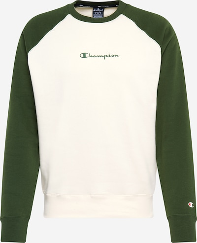 Champion Authentic Athletic Apparel Sweatshirt in creme / dunkelgrün, Produktansicht