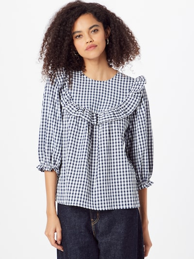 NEW LOOK Blouse 'Freya' in Blue / White, View model