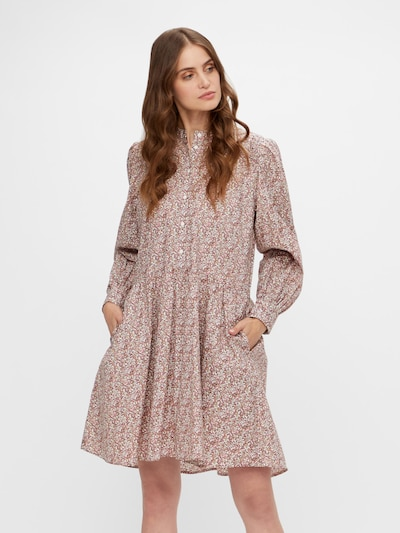 Y.A.S Kleid 'Sirelia' in braun / goldgelb / pink / weiß, Modelansicht